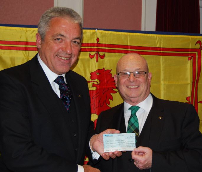 Burns Night Donation to WEHA