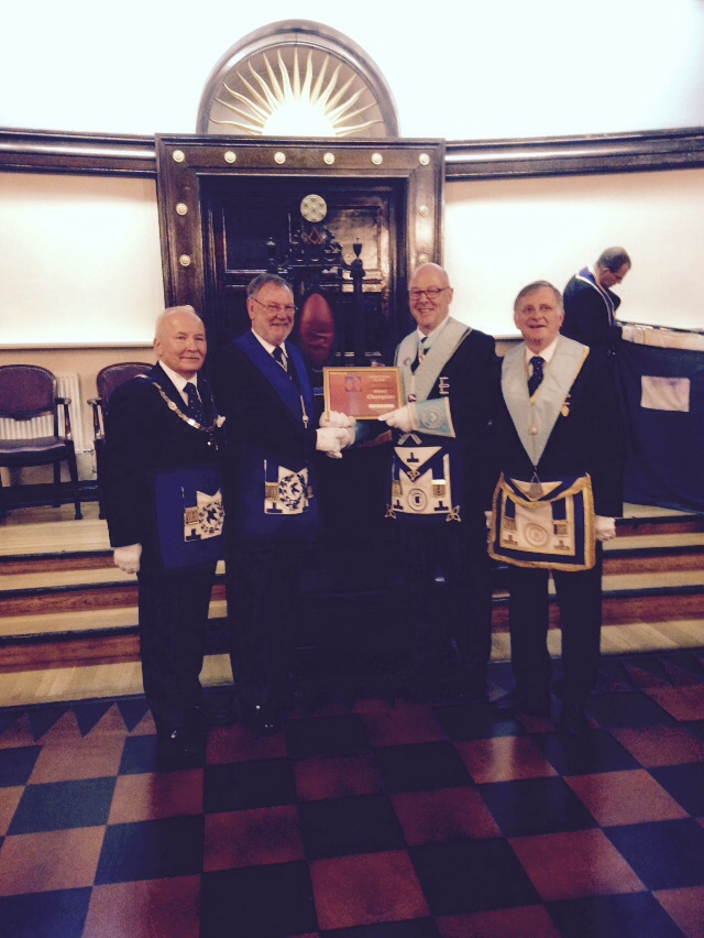 Bronze Champion Certificate Presentation at Hainaut Lodge