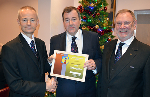 Saint Cedd Lodge No 6519 Receives West Essex Hospices Appeal Gold Champion Certificate