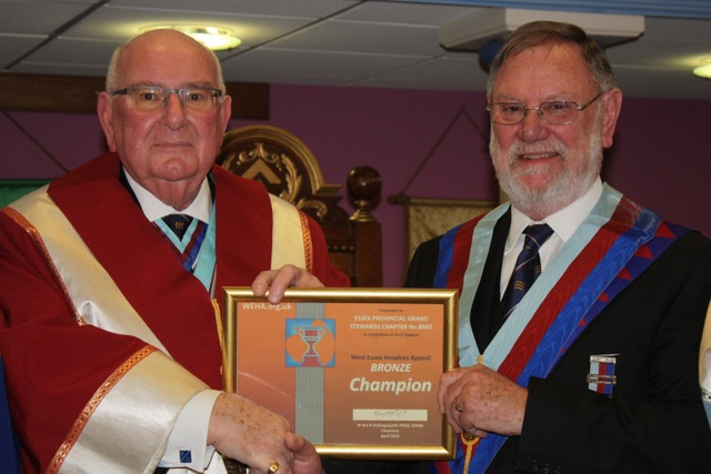 Essex Provincial Grand Stewards Chapter – Bronze Champions
